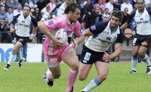 Lionel Beauxis. lors de la 24 eme journee du Top 14 de rugby en 2008. Le Stade Francais avait battu Castres 44 a 15 au stade Jean Bouin a Paris.