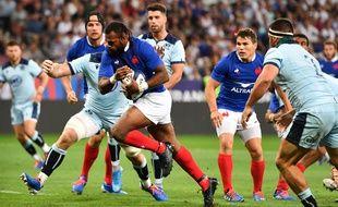Raka inscrit le premier essai français contre l'Ecosse, le 17 août 2019.