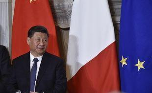 Le président chinois Xi Jinping en Italie le 23 mars 2019.