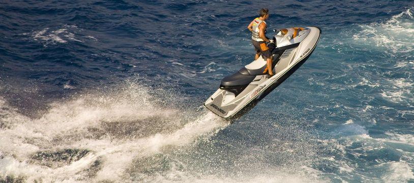 Un scooter de mer sur la Côte d'Azur (photo d'illustration).