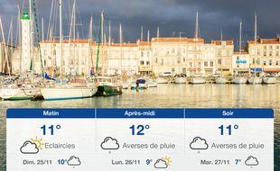 Météo La Rochelle: Prévisions du samedi 24 novembre 2018