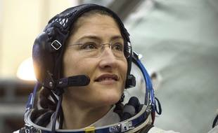 Kristina Koch, le 20 février 2019 avant son départ pour la Station spatiale internationale.