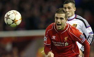 Jordan Henderson lors de la rencontre entre Liverpool et Bâle le 9 décembre 2014.