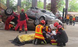 Le challenge national des pompiers à Nantes