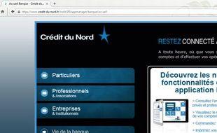 Le portail internet du Crédit du Nord