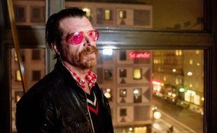 """Jesse Hughes, chanteur et guitariste du groupe  """"Eagles of Death Metal"""", lors d'une interview à l'AFP le 13 février 2016 à Stockholm"""