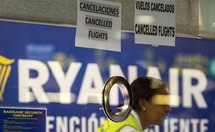 La grève du personnel a entraîné la suppression de nombreux vols, comme ici à l'aéroport de Barcelone, en Espagne.