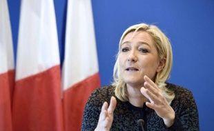 La présidente du FN Marine Le Pen le 7 novembre 2014