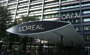 Photo du siège de la société du groupe français de cosmétiques L'Oréal à Clichy