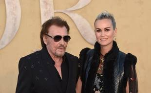 Johnny et Laeticia Hallyday à Las Virgenes, en Californie, le 11 mai 2017.