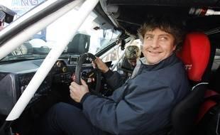 Lisbonne, le 03 janvier 2008. Le navigateur Laurent Bourgnon participe au rallye automobile Paris Dakar.