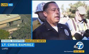 Une fusillade dans un collège de Los Angeles a fait cinq blessés dont un dans un état critique, le 1er février 2018.