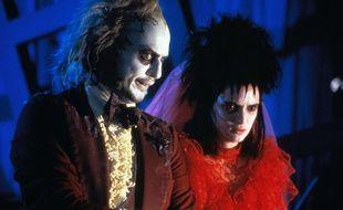 Michael Keaton et Winona Ryder dans le film de Tim Burton «Beetlejuice».