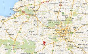 Vue Google Maps de Chartres.