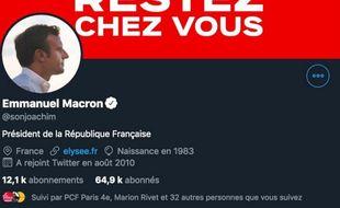 Joachim Son-Forget s'est fait passer pour Emmanuel Macron sur Twitter.