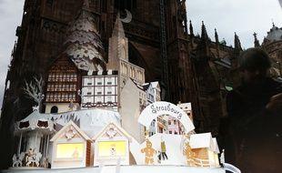 Strasbourg: Une maquette en papier, toute mimi, pour se mettre dans l'ambiance du marché de Noël