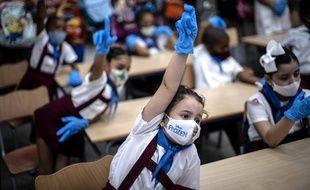 Dans une école de La Havane, le 2 novembre 2020.