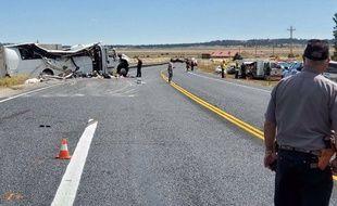 Un accident de bus a fait au moins quatre morts près du parc de Bryce Canyon, dans l'Utah, le 20 septembre 2019.