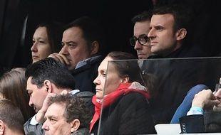 Emmanuel Macron en compagnie de Jacques-Henri Eyraud au Stade Orange Vélodrome