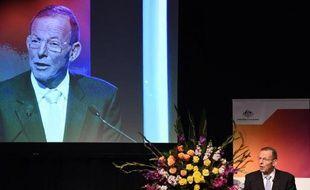 Le Premier ministre australien Tony Abbott à Sydney le 11 juin 2015
