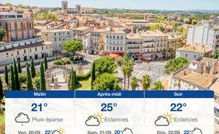 Météo Montpellier: Prévisions du jeudi 19 septembre 2019