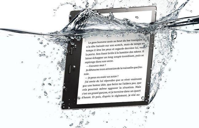 La Kindle Oasis, une liseuse grand format qui n'a pas peur de se mouiller.