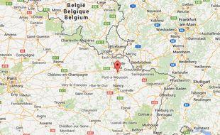 Google map de Marly en Moselle.