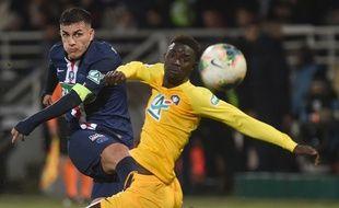 Leandro Paredes a inscrit son premier but sous les couleurs parisiennes à Pau.