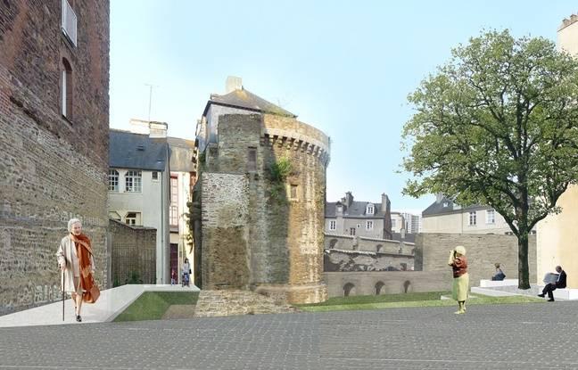 Le nouvel accès à la rue des Portes Mordelaises, vu depuis la rue de Juillet.