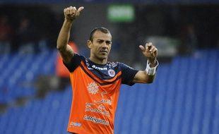 Le capitaine montpelliérain Vitorino Hilton après une victoire contre Caen (1-0), le 19 avril 2015.