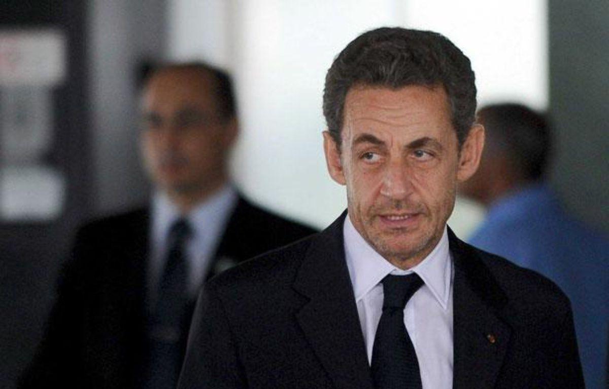 L'ancien président de la République Nicolas Sarkozy, après une rencontre avec la présidente brésilienne Dilma Rousseff à Brasilia, le 22 octobre – BIZERRA JR/EFE/SIPA