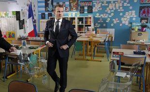 Emmanuel Macron lors de son interview sur TF1 le 12 avril 2018.