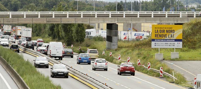 Une portion d'autoroute à Lille (illustration).