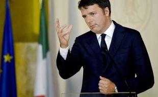 Le président du conseil italien, Matteo Renzi, le 17 septembre 2015 à Modène