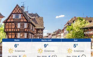 Météo Strasbourg: Prévisions du mercredi 14 avril 2021