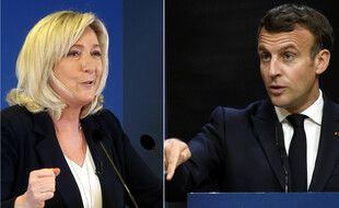 Marine Le Pen et Emmanuel Macron (photomontage).