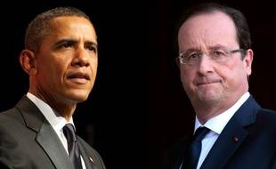 Photomontage de François Hollande et Barack Obama.