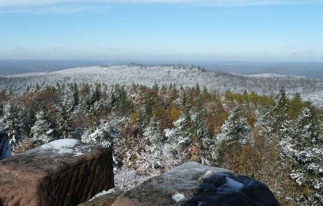 La vue depuis le tour du Grand Wintersberg, en hiver.