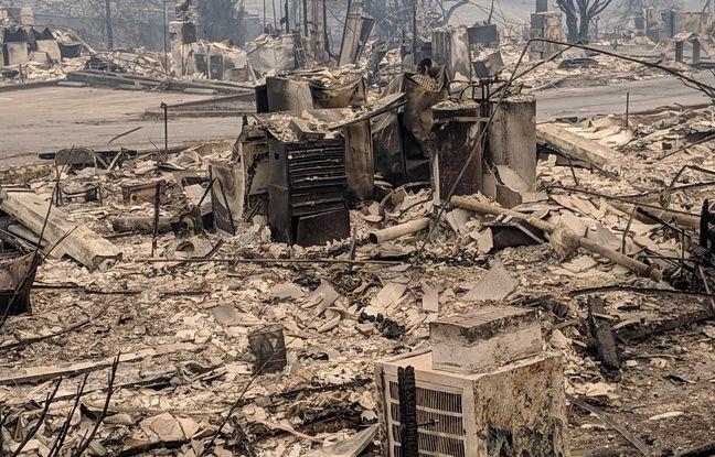 Lle lotissement de Pine Springs a été entièrement détruit par les flammes..