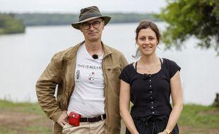 Christophe et sa fille Claire, dans la saison 14 de Pékin Express.