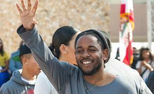 Le rappeur Kendrick Lamar à Compton, Californie, le 13 février 2016
