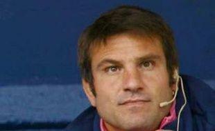 Fabrice Landreau, l'entraîneur des avants du Stade Français, le 18 octobre 2008 Jean-Bouin.