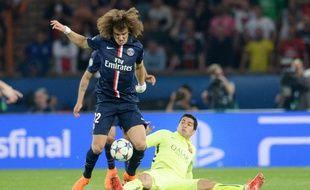 Le Parisien David Luiz lors du quart de finale aller de Ligue des champions perdu contre Barcelone (1-3), le 15 avril 2015.