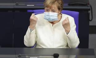 Angela Merkel, le 29 septembre 2020 au Parlement européen.