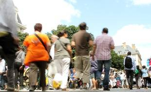 Illustration d'une photo de foule, ici à Rennes.