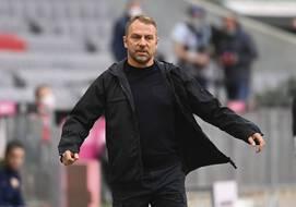 Hans-Dieter Flick lors du match de Bundesliga entre le Bayern Munich et l'Union Berlin, le 10 avril 2021.