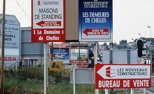 Commercialisation de pavillons à Chelles, dans la banlieue parisienne