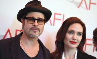 Brad Pitt et Angelina Jolie aux AFI Awards le 9 janvier 2015.