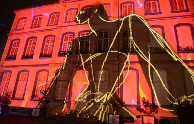 Le musée des Tissus lors de la Fête des lumières.