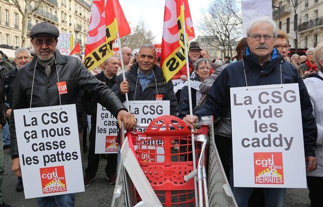 «On en a assez qu'Emmanuel Macron vienne se servir dans nos poches»... Les retraités dans la rue contre la baisse de leur pouvoir d'achat